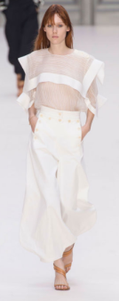 CHLOE The chiffon fabric lightens up the runway with its chic style.