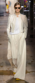 DRIES VAN NOTEN The overly layered design properly contrasts white and ivory creating a warm sense with such simple and light colors.