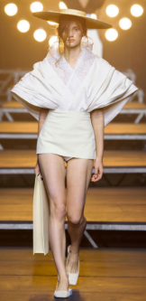 JACQUEMUS The elegance presented by Simon Porte is a fresh and chic look.