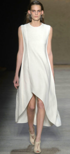 NARCISO RODRIGUEZ Mixing slouch with structure the shirtdress is ideal - long and flowing - like an overcoat.