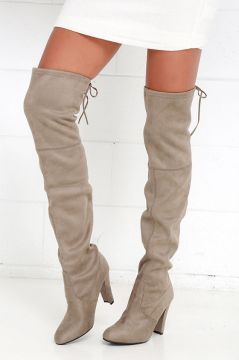 Steve Madden Gorgeous Taupe Suede Over The Knee Boots.jpg