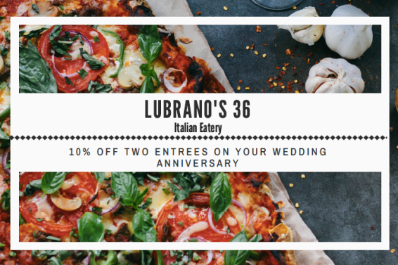 Wedding Anniversary Coupon